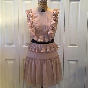 Bcbg dress blush pink and black